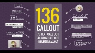 136 Call-Out Titles | After Effects template