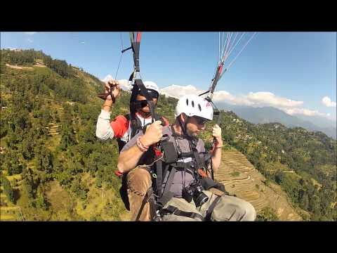 Gliding in Nepal.