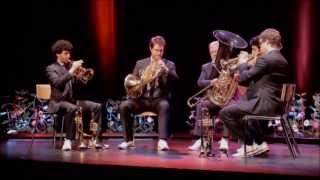 Brahms - Waltz 15, Op 39 - Canadian Brass LIVE in Sion, Switzerland