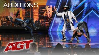 WOW! EPIC Dance Crew Delivers Mortal Kombat x Street Fighter Show - America's Got Talent 2019