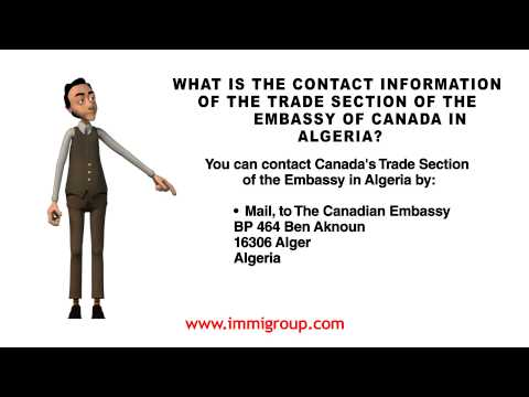What is the contact information of the Trade Section of the Embassy of Canada in Algeria?