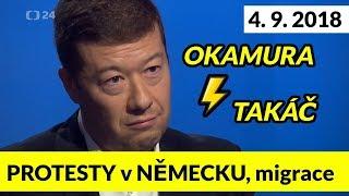OKAMURA se na ČT24 DRSNĚ POHÁDAL s TAKÁČEM! Interview 4.9.2018