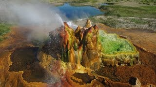 Fly Geyser from the Air