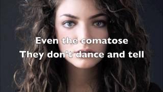 Lorde - Team (Lyric Video)