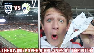 ENGLAND vs SLOVENIA VLOG!!! *Throwing Paper Airplanes ON THE PITCH*