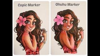 $7 Marker vs $0.50 Marker (Copic vs Ohuhu)