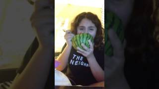 me crying while eating a watermelon