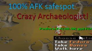 Crazy Archaeologist 100% Afk safespot!
