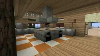 Modernes Minecraft-Strandhaus