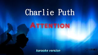 Charlie Puth -Attention (karaoke-backing track)