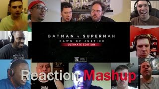 Batman v Superman - Dawn of Justice -  Ultimate Edition Trailer   REACTION MASHUP