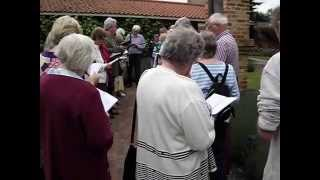 """St. Andrew's Pilgrimage to Walsingham singing """"Thine be the Glory"""""""