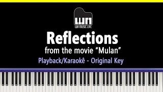 Reflections (Mulan) - Piano Playback for Cover / Karaoke