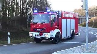 4 Freiwilige Feuerwehren   LKW UNFALL   FAHRER VERLETZT   Einsatzfahrten