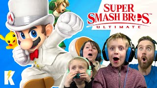Super Smash Bros Ultimate Family Battle! KIDCITY GAMING