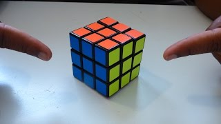 How to solve a rubik's cube in 2 EASY MOVES! width=