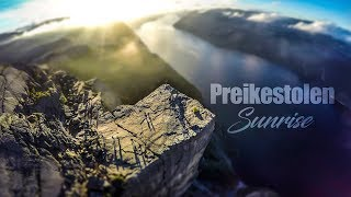 Sunrise On The Edge Of The World / Preikestolen / NORWAY