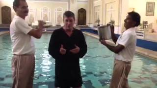 ALS ice bucket challenge at Rambagh Palace in Jaipur India