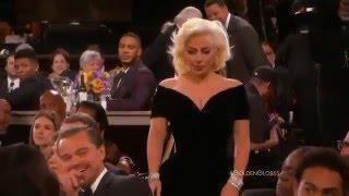 Leonardo Dicaprio vs Lady Gaga no Globo de Ouro