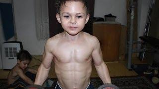 Meet The 9 Yr Old Body Builder - Giuliano Stroe