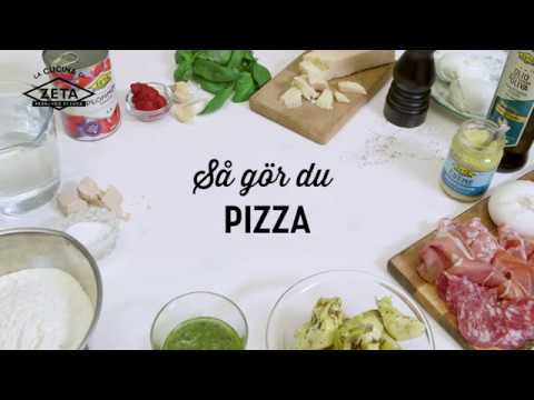 Italiensk pizza med topping