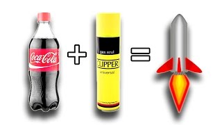 ✔ How to make a rocket with Coke and Gas Butano