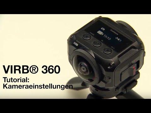 Garmin VIRB® 360 Tutorial - Kameraeinstellungen