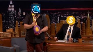 Jack Black plays Ali-A intro with the Sax-A-Boom!