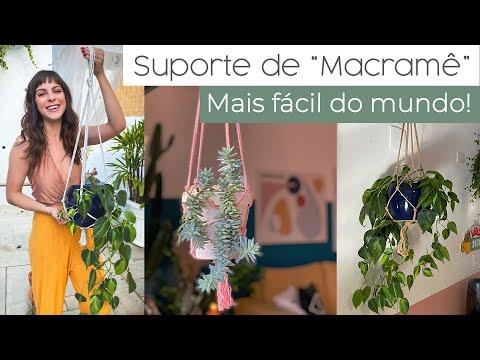 DIY Suporte p/ Plantas – em 10 minutos Super Fácil!