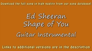 Ed Sheeran - Shape of You (Acoustic Karaoke)