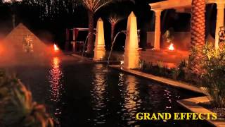 Egyptian Themed Pool - Fire and Water Features by Grand Effects