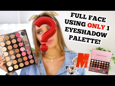 Full Face Using ONLY One Eyeshadow Palette | Challenge