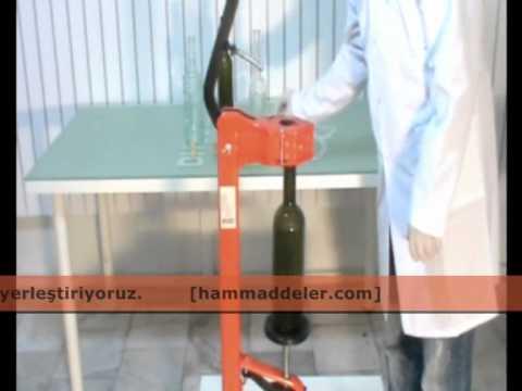 Hammaddeler.com - Yer Tipi Mantarlama Makinesi Kullanımı