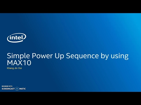 Simple power sequencing using MAX 10 FPGAs
