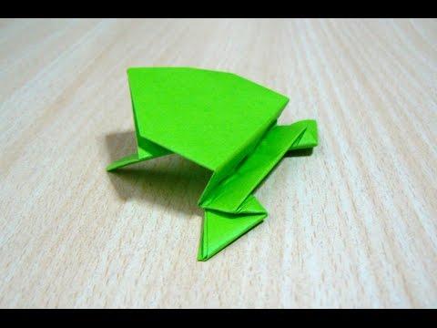摺紙。藝術折疊紙。跳蛙 - YouTube