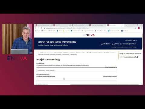 Webinar - Energi og klimasatsinger i industrien - Presentasjon søknadsskjema m/Trond Bratsberg