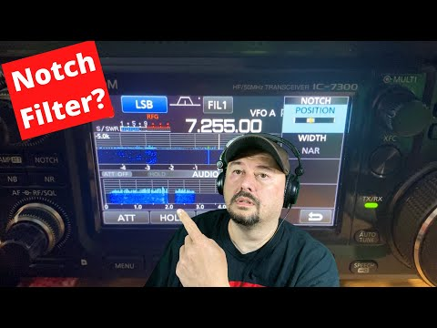ICOM IC-7300 Notch Filter Demo - Ham Radio - TheSmokinApe