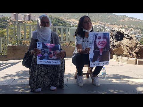 Gülistan Doku'nun ailesi, oturma eylemi başlattı