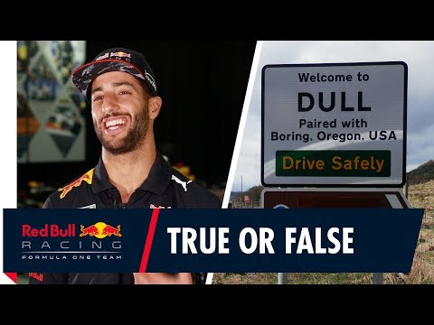 "Dull"" Daniel Ricciardo's True or False British Grand Prix place names"