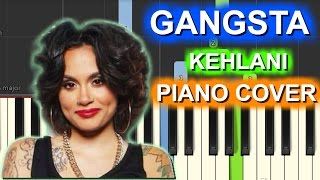 Kehlani Gangsta Piano Cover|Chords+Tutorial+Instrumental+Lesson+Karaoke |From Suicide Squad