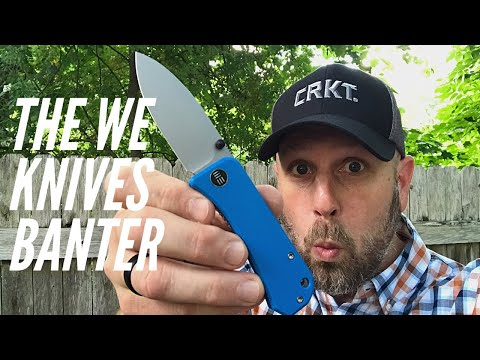 The NEW Banter from WE Knives and Ben: EDC Knife in S35VN Steel, Blue G10 Handles - FIRST LOOK