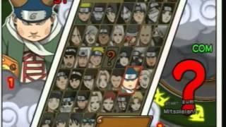 Naruto Ultimate Ninja 3 All Characters