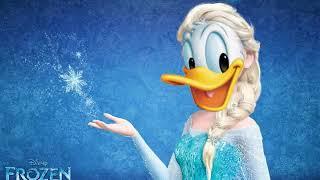 "Donald Duck singing ""Let it Go"""