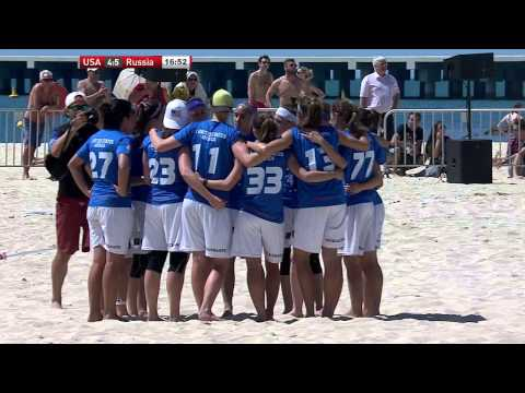 Video Thumbnail: 2015 World Championships of Beach Ultimate, Women's Gold Medal Game: USA vs. Russia