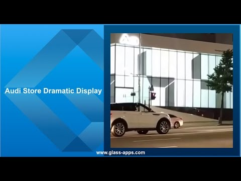 Glass Apps® Audi Store Dramatic Display
