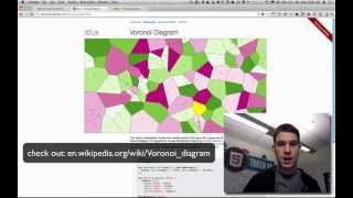 pointerpointer.com's use of voronoi, canvas, and javascript