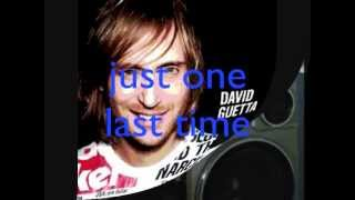Just one last time - David Guetta ft. Taped Rai - lyrics (original)