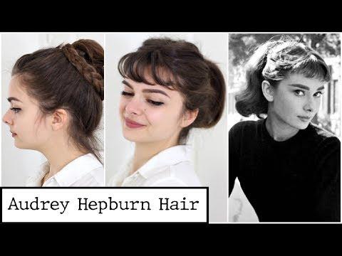 Four Audrey Hepburn Styles | Hair Tutorial