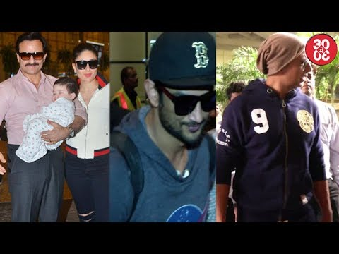 Saif-Kareena Head For A Swiss Vacation With Taimur | Akshay,Sushant,Sushmita Snapped