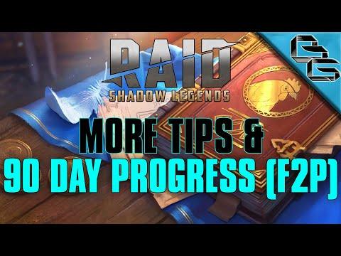 RAID: Shadow Legends | 90 Day Progress + More Tips | FREE Sacred Shard | F2P